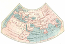 WORLD: The old according to Ptolemy;1936 map